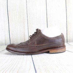 COLE HAAN BROWN LEATHER WING TIP DRESS SHOES 9.5